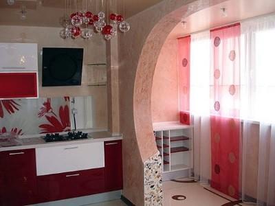 Совмещенная кухня с балконом
